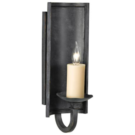 "Knight's Hall 18"" High Candle Wall Sconce"