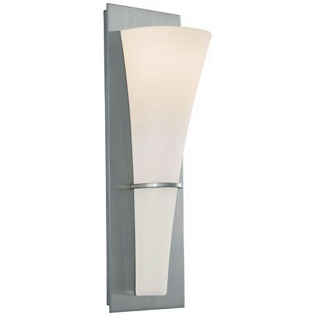 "Barrington 15 1/4"" High Brushed Steel Wall Sconce"