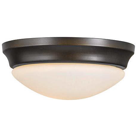 "Feiss Barrington 16 1/2"" Bronze Flushmount Ceiling Fixture"