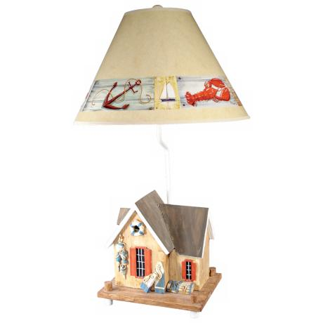 Crab Shack Nautical Table Lamp with Paul Brent Shade