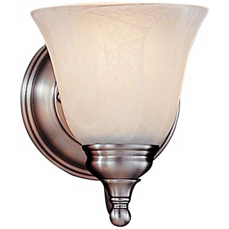 "Feiss Bristol Collection 7"" High Pewter Wall Sconce"