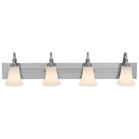 Barrington Brushed Steel Four Light Bath Bar