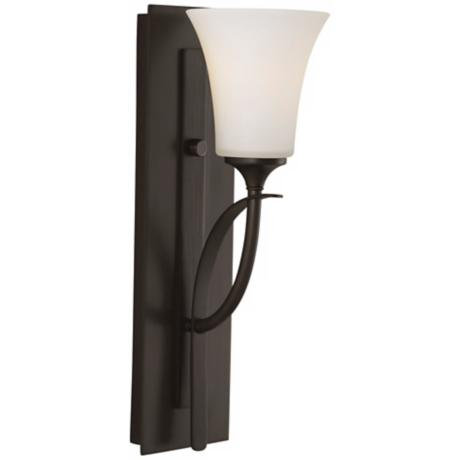 "Barrington 16"" High Bronze One Light Wall Sconce"