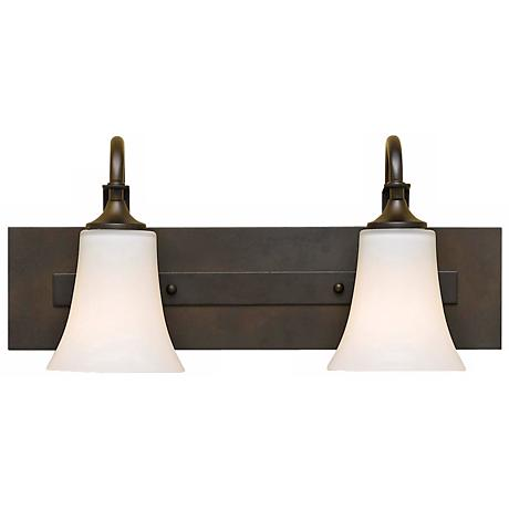 "Feiss Barrington 18"" Wide Bronze Two Light Bath Bar"