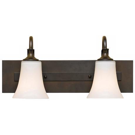 "Barrington 18"" Wide Bronze Two Light Bath Bar"
