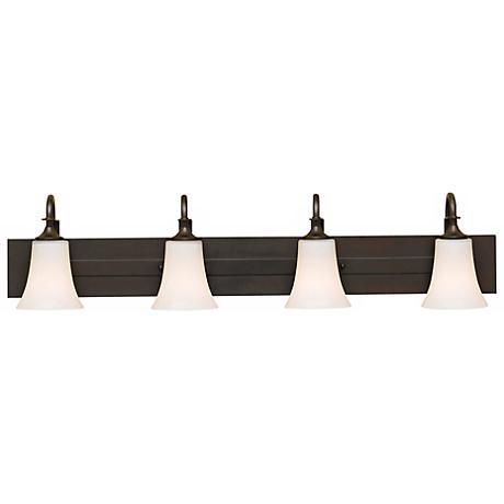 Feiss Barrington 37 Quot Wide Bronze Four Light Bath Bar