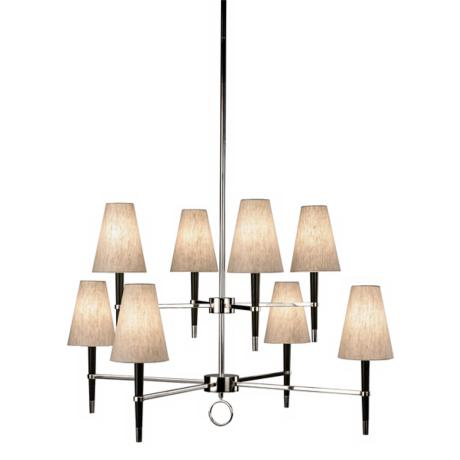 Jonathan Adler Ventana Two-Tier Nickel Chandelier