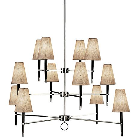 Jonathan Adler Ventana Three-Tier Nickel Chandelier