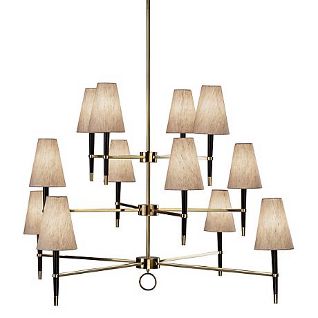 Jonathan Adler Ventana Three-Tier Brass Chandelier