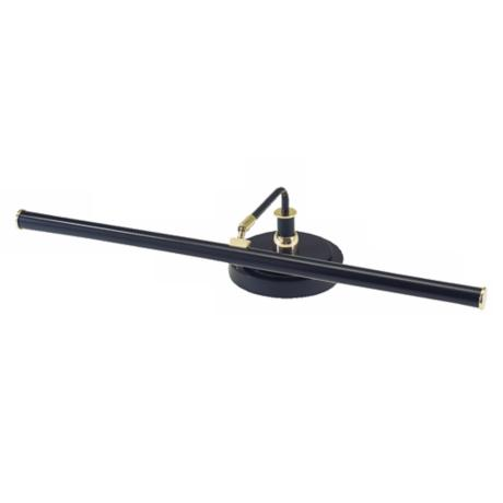 "LED 4"" High Piano Lamp in Black with Brass Finish"