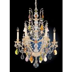 "Schonbek Bordeaux 22"" Wide Colored Crystal Chandelier"
