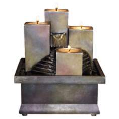 Candle Stacks Battery Operated Fountain