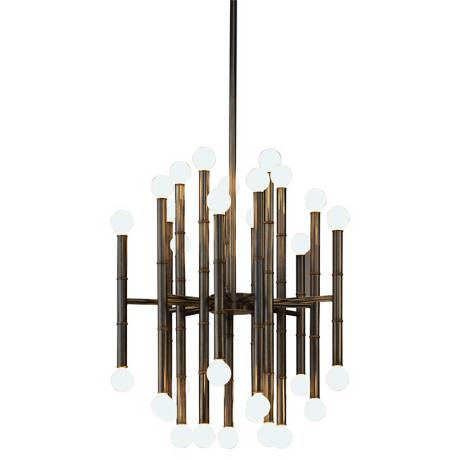Jonathan Adler Meurice Collection 30-Light Bronze Chandelier