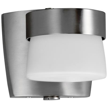 "Aria 4 3/8"" High Energy Efficient Nickel Outdoor Wall Sconce"
