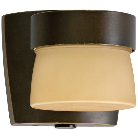 "Aria 4 3/8"" High Energy Efficient Bronze Outdoor Wall Sconce"