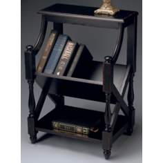 Plum Black Book Table
