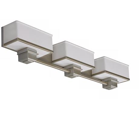 "Sheridan Vanity 36"" Wide Satin Nickel Fluorescent Bath Light"