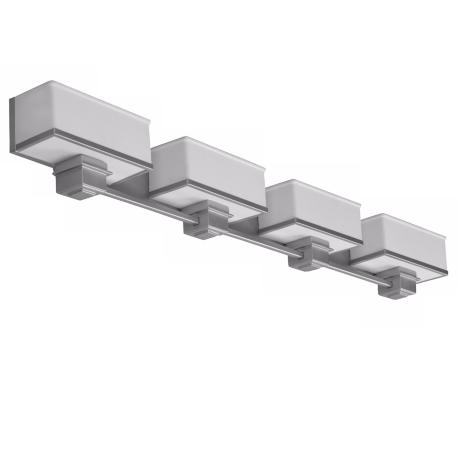 "Sheridan Vanity 49"" Wide Satin Nickel Fluorescent Bath Light"