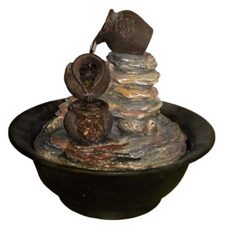 Three Urns Tabletop Fountain
