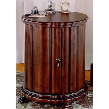 "Plantation Cherry 24 1/2"" High Drum Table"