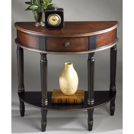 "Demilune 30"" High Cafe Noir Console Table"