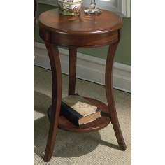 "Plantation Starburst Cherry 26"" High Accent Table"