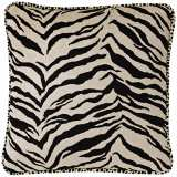 "Black & White Zebra 22"" Square Pillow"