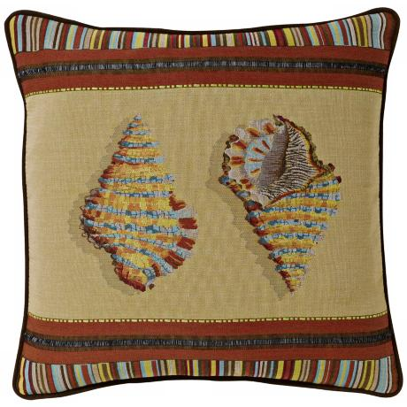 "Sea Shell 19"" Square Pillow"