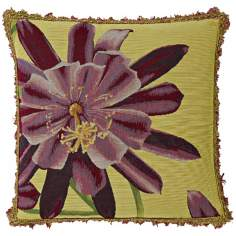"Exotic Blossom Lemon 19"" Square Pillow"