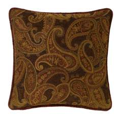 "Multi-Bark Paisley 18"" Square Pillow"