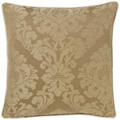 "Camel Rosette Damask 18"" Square Pillow"