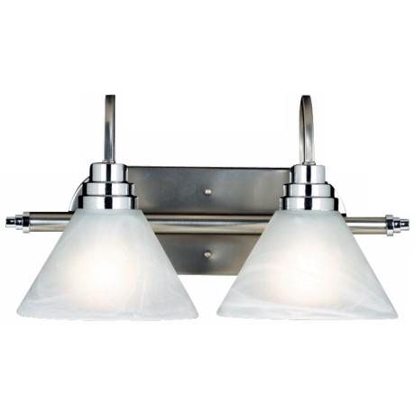 "Astoria Collection 17"" Wide Two Light Bathroom Fixture"