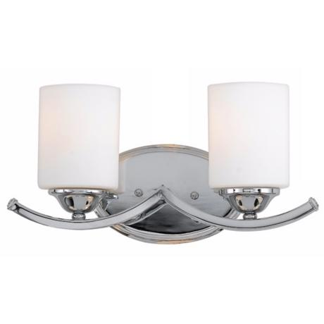 "Ellis Collection 15 1/2"" Wide Two Light Bathroom Fixture"