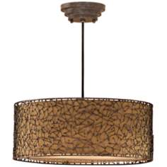 Brandon Collection 3-Light Distressed Rust Pendant