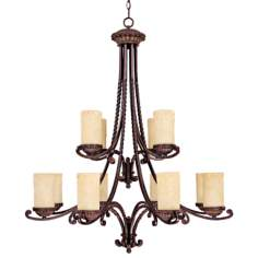 "Highlands Collection 44"" High Two Tier Chandelier"