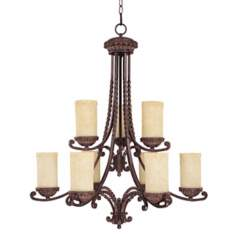 "Highlands Collection 35"" High Two Tier Chandelier"