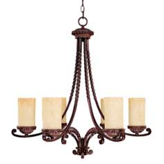 "Highlands Collection 30"" High Chandelier"