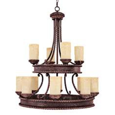 "Highlands Collection 41"" High Two Tier Round Chandelier"