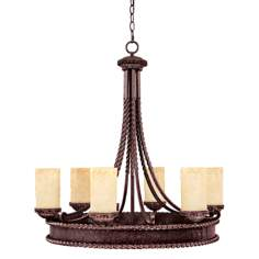 "Highlands Collection 30 1/4"" High Round Chandelier"