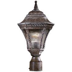 "Segovia Collection 17 1/4"" High Vintage Rust Post Light"