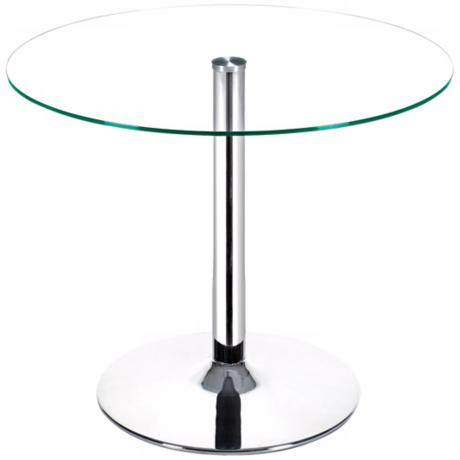 Galaxy Glass and Chrome Table