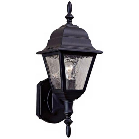 "Bay Hill Collection 15 3/4"" High Black Finish Wall Light"