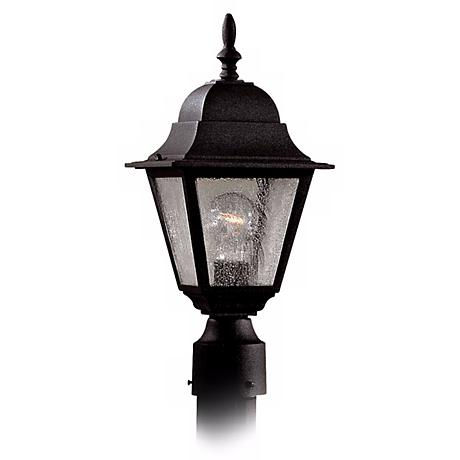 "Bay Hill Collection 17"" High Black Finish Post  Light"
