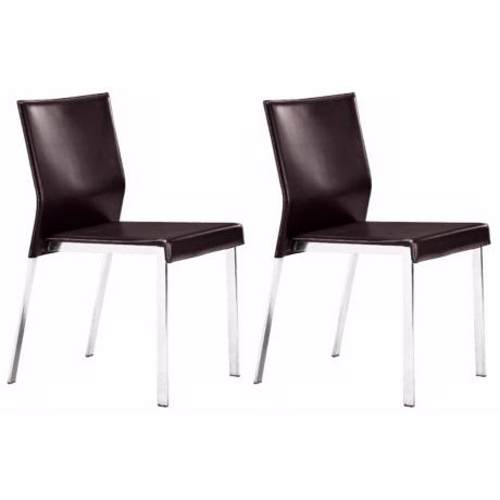 Zuo Set of Two Boxter Espresso Dining Chairs
