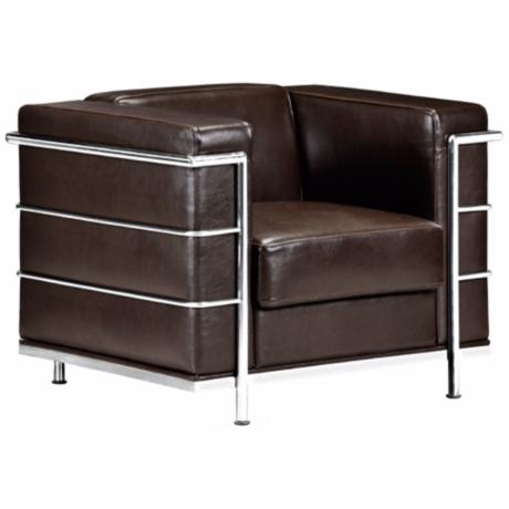 Zuo Fortress Collection Espresso Leather Armchair