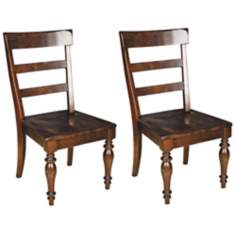 Set of 2 Buster Espresso Finish Side Chairs