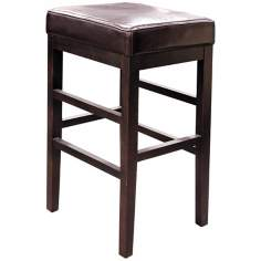 "Classic Espresso Bicast Leather 30 1/2"" High Bar Stool"