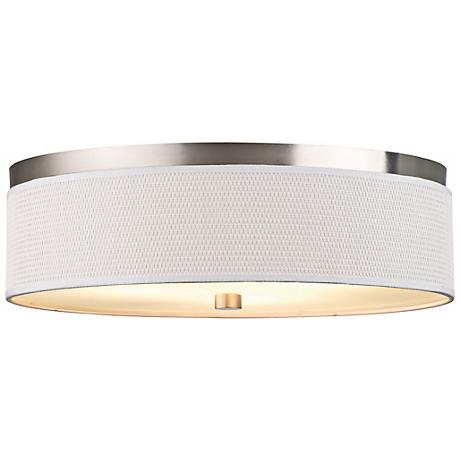 "Cassandra Collection 20 1/2"" White Ceiling Light"