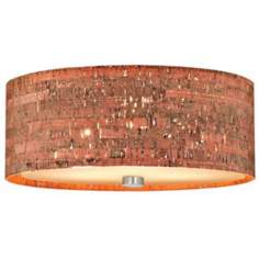 "Forecast Alentejo Cork Collection 15"" Nickel Ceiling Fixture"