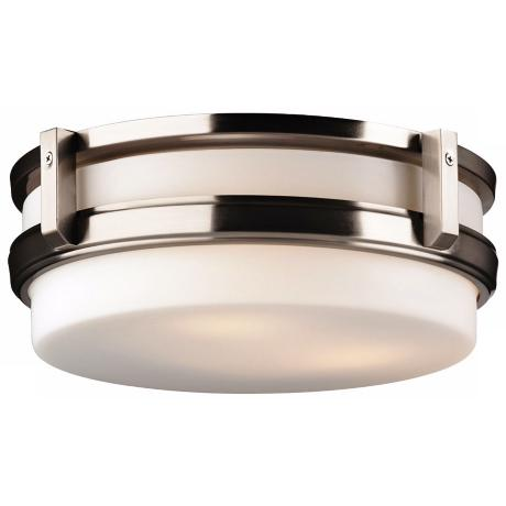 "Forecast 27th Street 14"" Satin Nickel Ceiling Light"